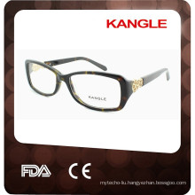 2017 new eyewear optical frame with metal decoration